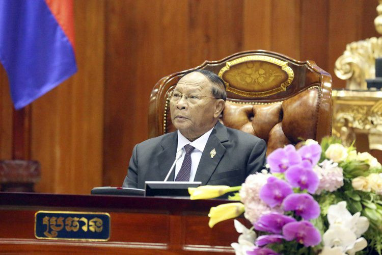 Heng Samrin a été réélu président de l'Assemblée Nationale