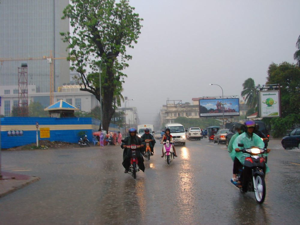 Phnom Penh inondée. Photographie Allie Caulfield