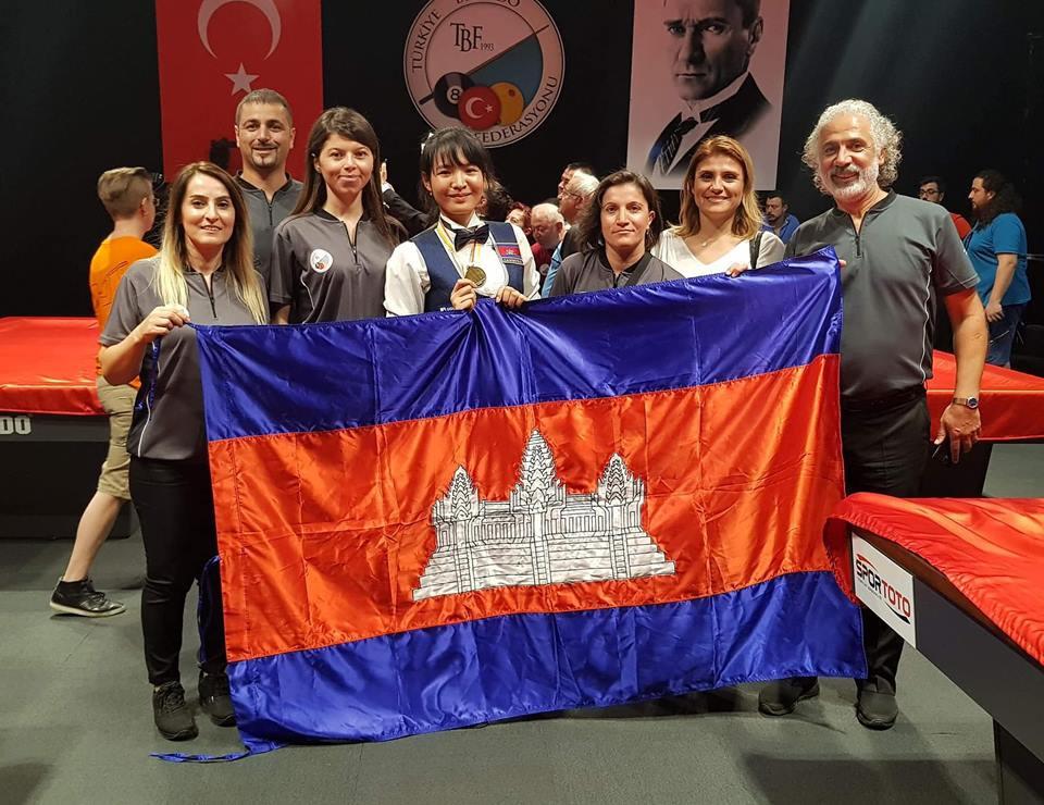 La Cambodgienne Srong Pheavy médaillée aux Championnats du Monde