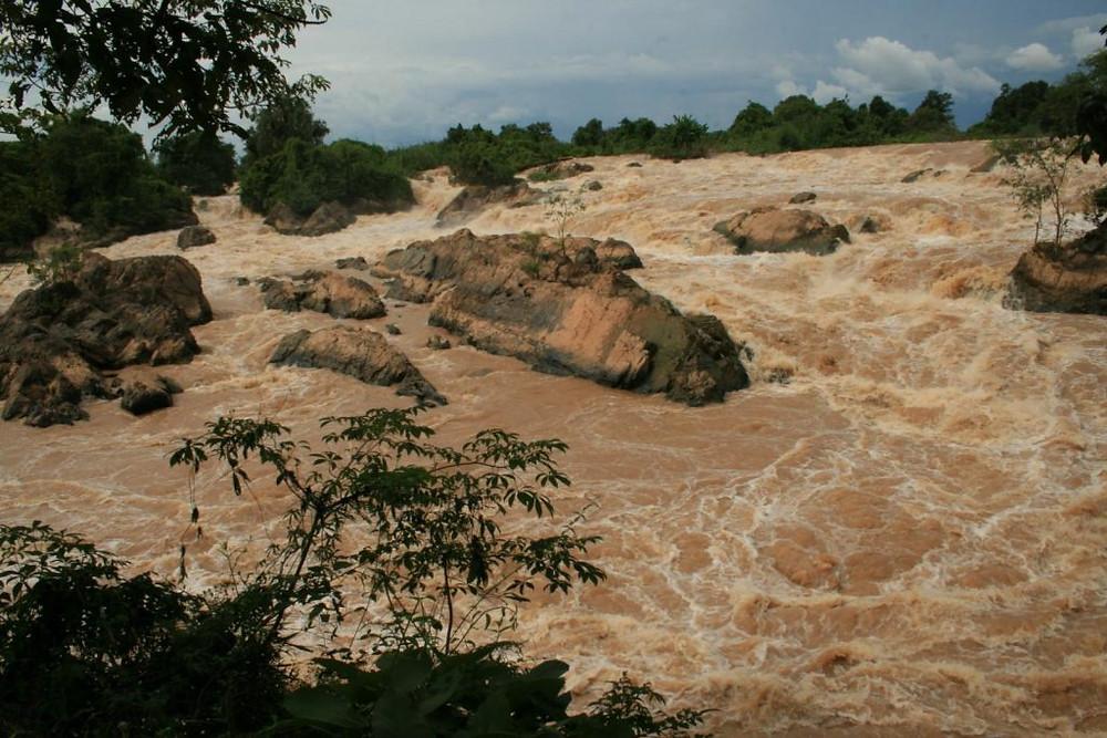 Khone Falls au Laos - Photographie par Steven Belcher (cc)