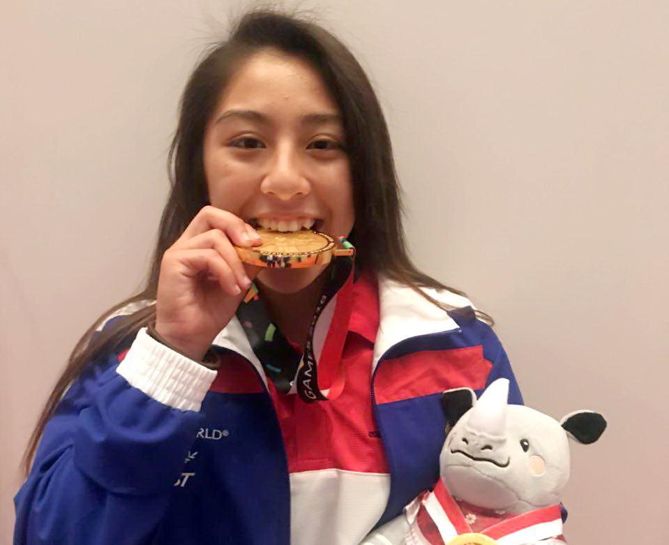 La première médaille d'or du Cambodge a été remportée par l'athlète cambodgienne-américaine Khan Jessa