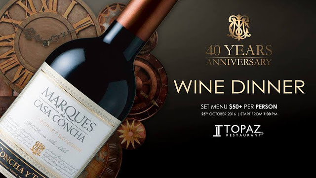 Topaz : Quarantième anniversaire des vins Marques de Casa Concha