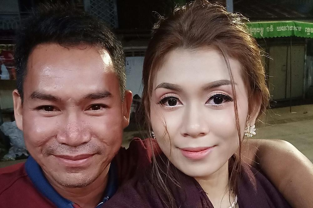 Virak Soy et son épouse