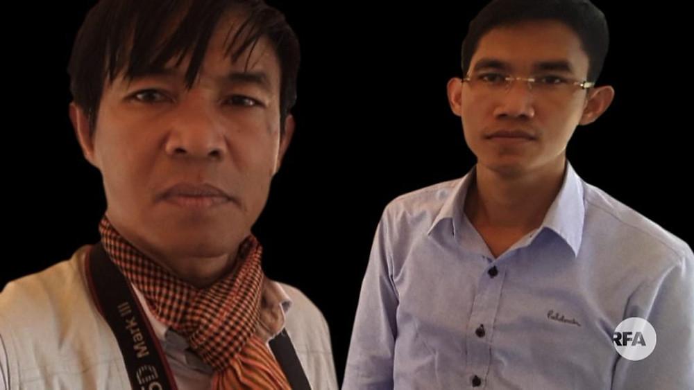 Oun Chhin, 49 ans, et Yeang Sothearin, 35 ans, journalistes de RFA