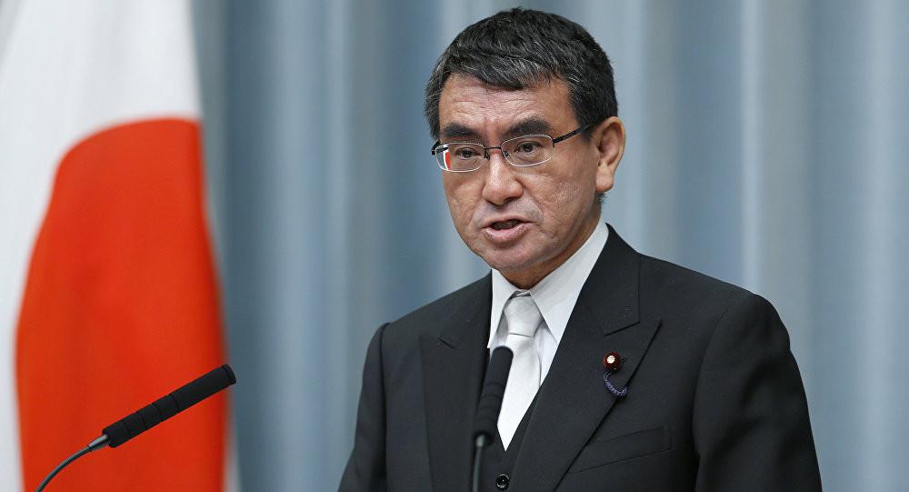 Le ministre des Affaires étrangères japonais, Taro Kono