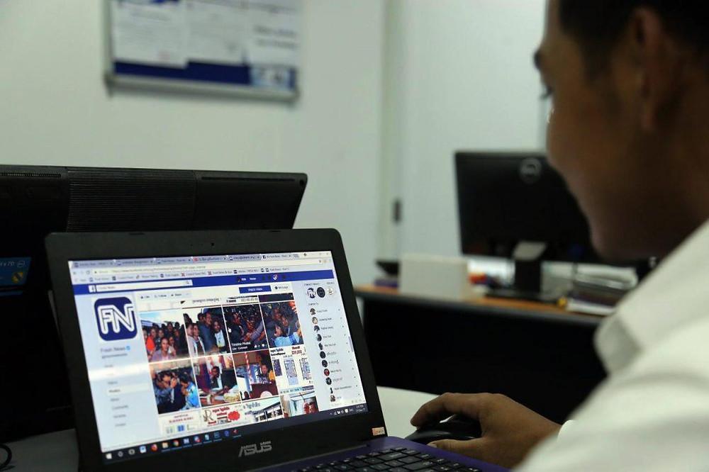 Les utilisateurs cambodgiens de Facebook sont passés à 6,8 millions contre 4,8 millions en 2013 et 1,2 million en 2013