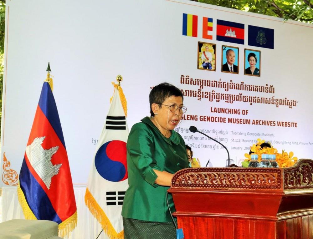S.E. Phoeurng Sackona, ministre de la Culture et des Beaux-Arts