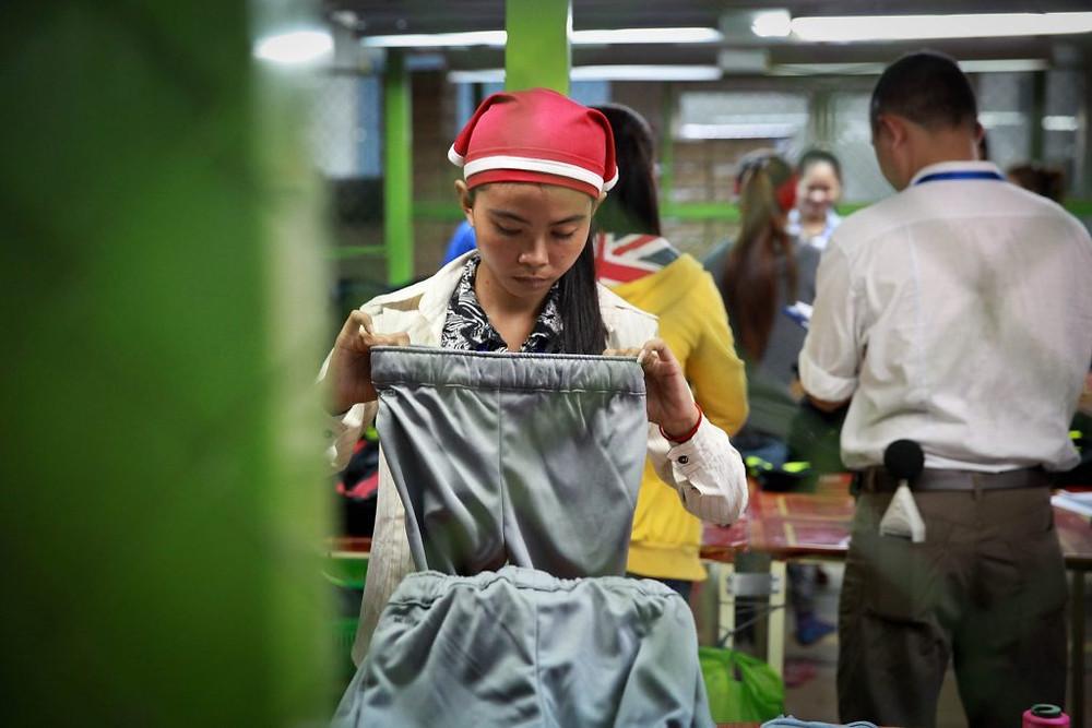 Usine textile au Cambodge