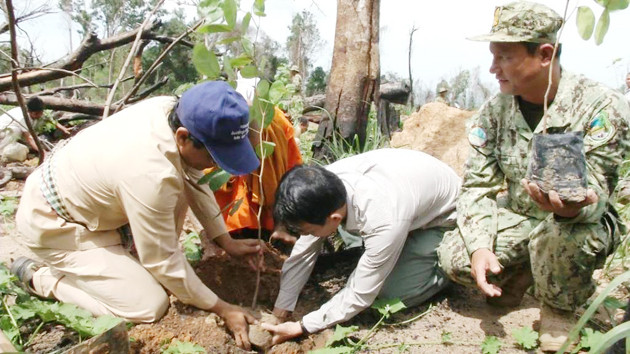 Opération reboisement à Phnom Kulen. Photographie AKP