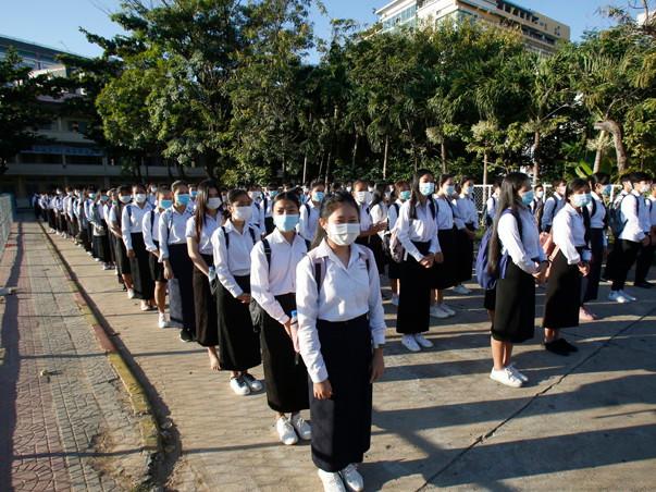 Rentrée scolaire à Phnom Penh