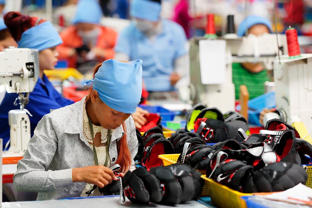 Employée du textile au Cambodge