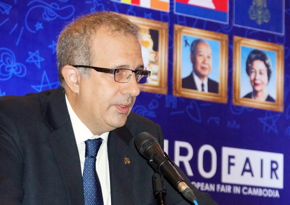 Arnaud Darc, Président d'Eurocham, lors du premier événement Eurofair