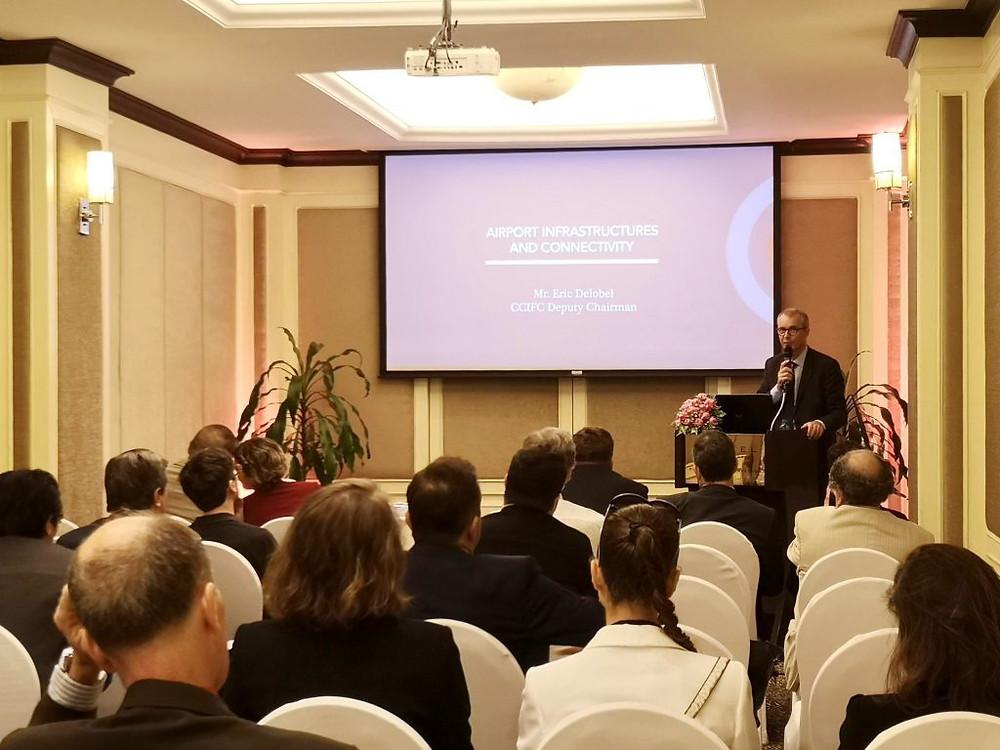 Eric Delobel, Vice-président de la CCIFC et CEO de Cambodia Airport