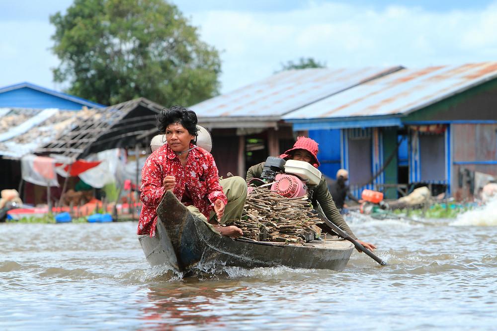 Phat Sanday, communauté de pêcheurs à Kampong Svay, province de Kampong Thom