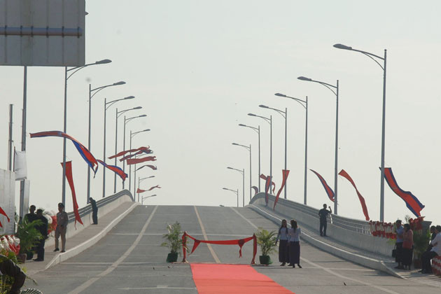 Pont de l'amitié Cambodge-Chine à Koh Thom