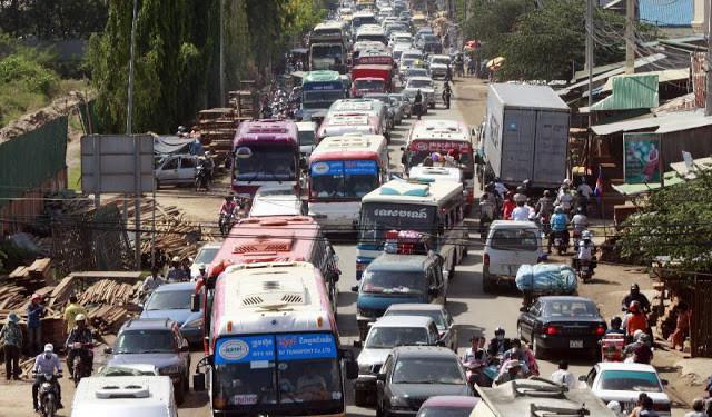 Phnom Penh recense 182 lieux d'embouteillages permanents