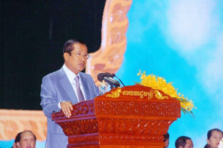 Samdech Techo Hun Sèn, lors de la célébration de la 11e Journée des anciens combattants