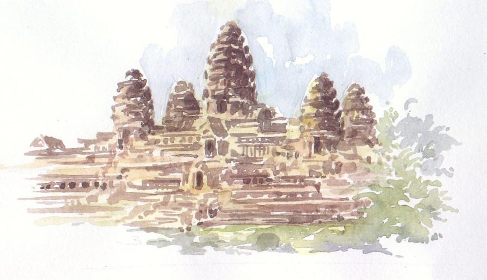 Mes chers parents, vous n'aimez pas Angkor ? Dites le sur Tripadvisor ! Illustration par Rin Hoeut