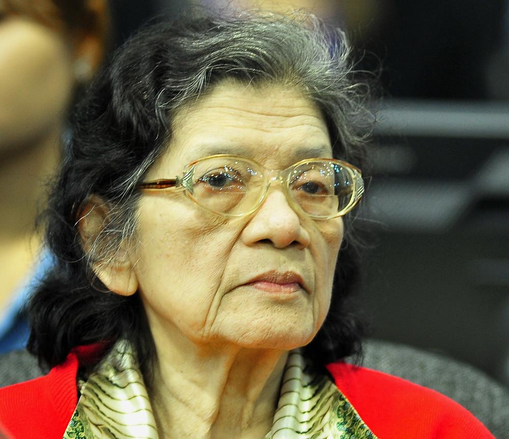 ancienne ministre des Affaires sociales du Kampuchéa démocratique, Ieng Thirith