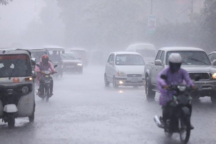 Avis de fortes pluies jusqu'au 11 août. Illustration AKP