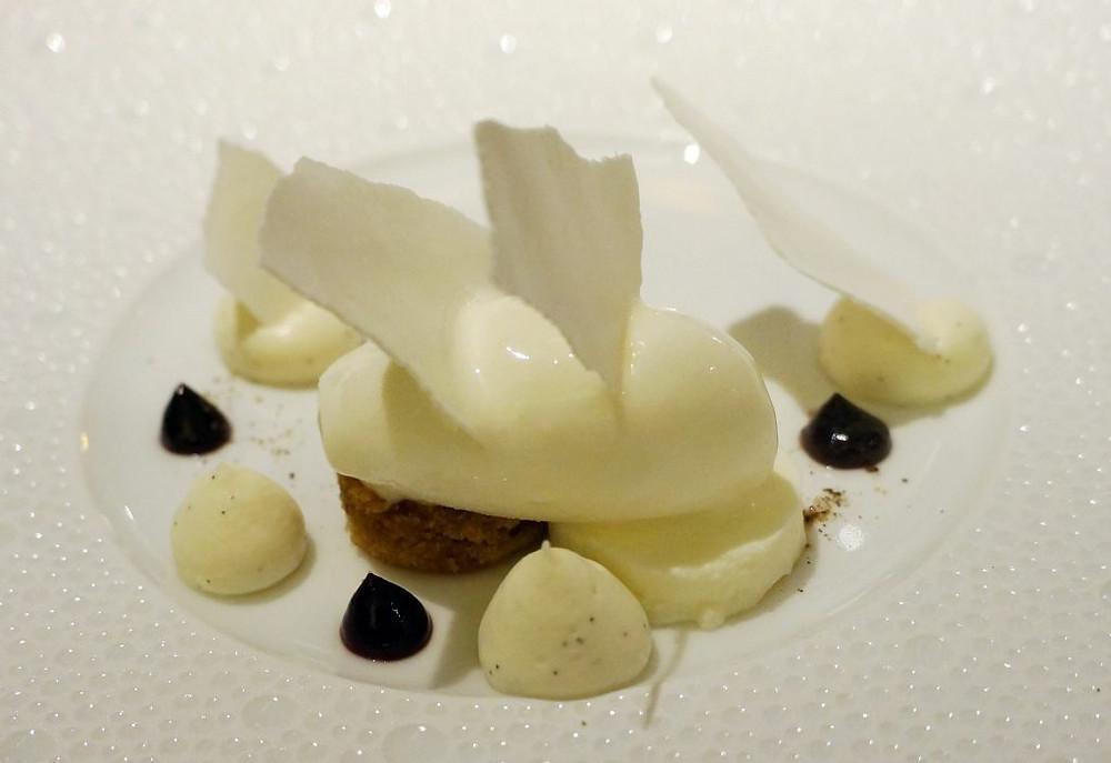 Fromage blanc et ganache au chocolat blanc