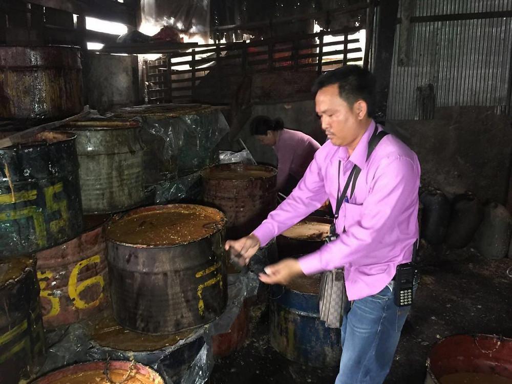 Quarante tonnes de sucre de palme contrefait