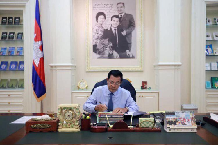Le Premier ministre Hun Sen