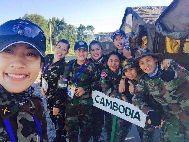 Snippers cambodgiennes à l' ASEAN Armies Rifle Meet (AARM)
