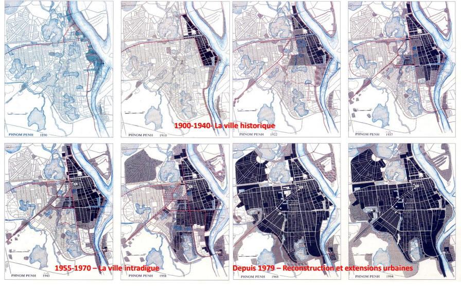 Le tissu urbain de Phnom Penh et ses évolutions de 1900 à aujourd'hui – Illustration Mr Vannak Seng