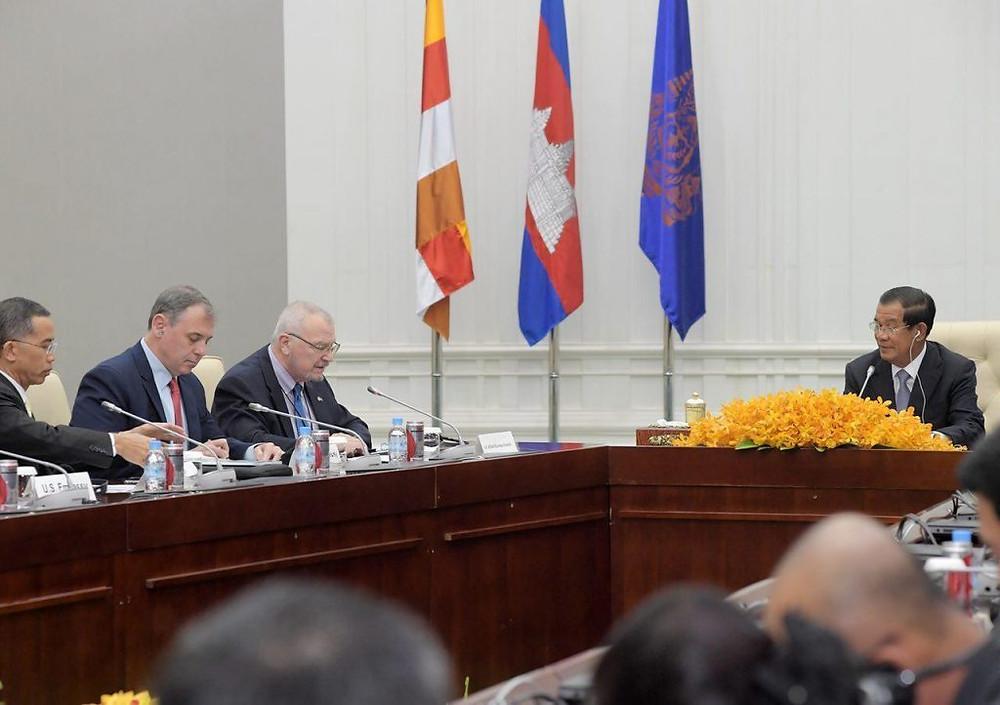 US-ASEAN Business Council au Palais de la Paix à Phnom Penh mardi matin