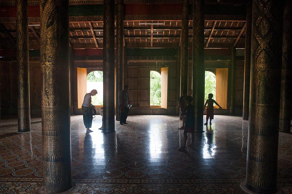 Nous étions les seuls visiteurs, ici à l'intérieur du temple