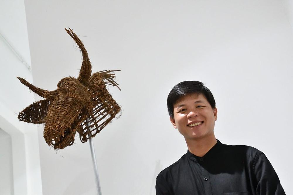 L'artiste Khvay Samnang s'expose