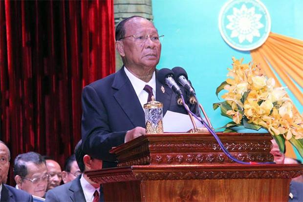 Samdech Akka Moha Ponhea Chakrei Héng Samrin, président de l'Assemblée nationale