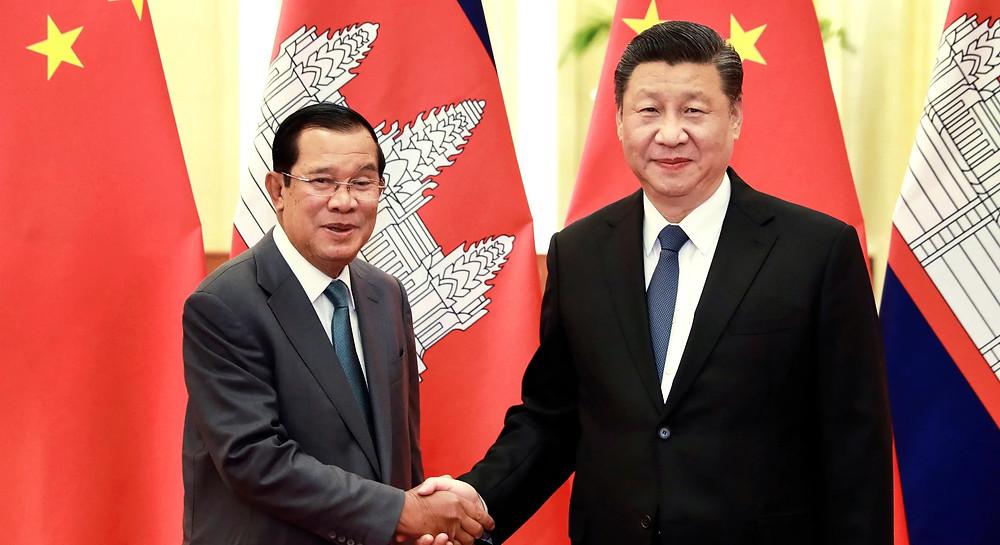 Le Premier ministre Hun Sen et Xi Jinping