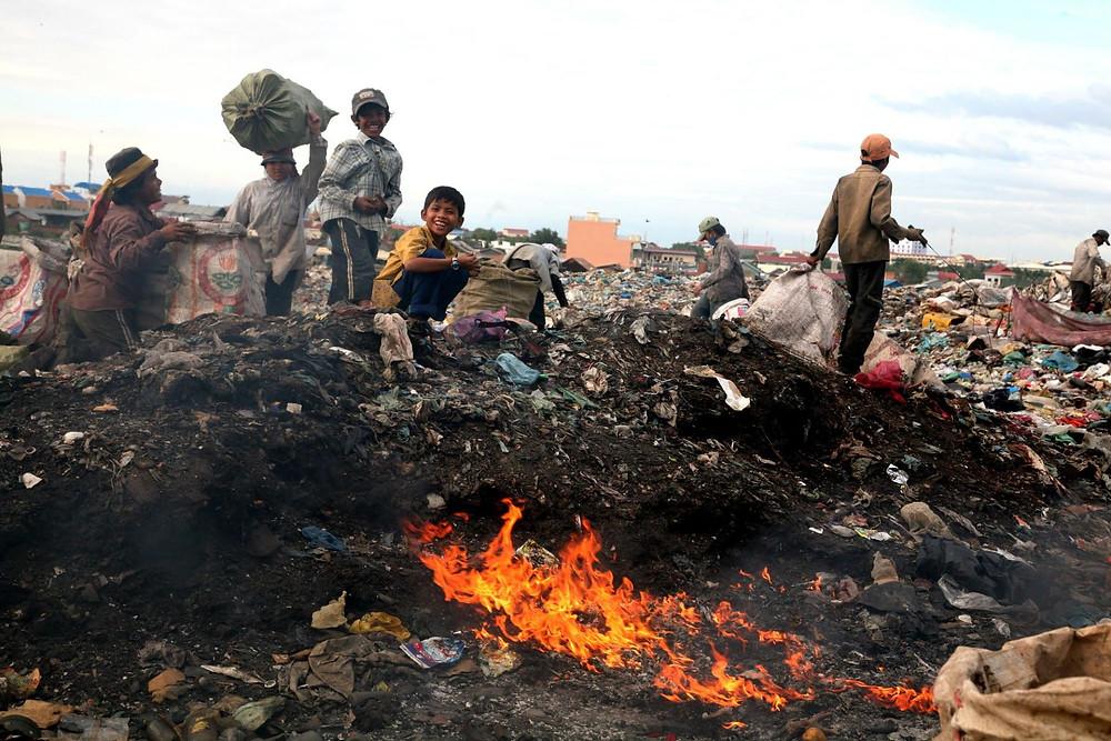 Stung Mean Chey à Phnom Penh, un vaste dépotoir de onze hectares