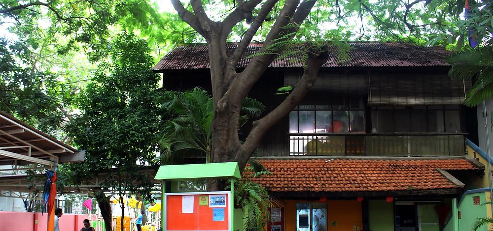 Les bureaux de l'école Acacia, anciennement Tchou Tchou