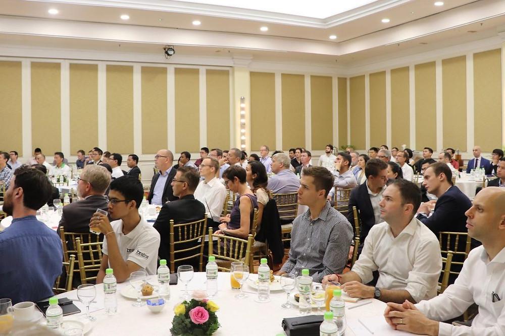 Déjeuner-débat organisé par Eurocham sur le thème de l'avenir des énergies à l'échelle mondiale, avec une perspective sur le Cambodge