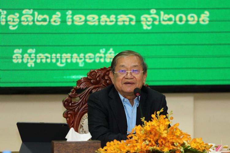 S.E. Khieu Kanharith, ministre de l'Information du Cambodge