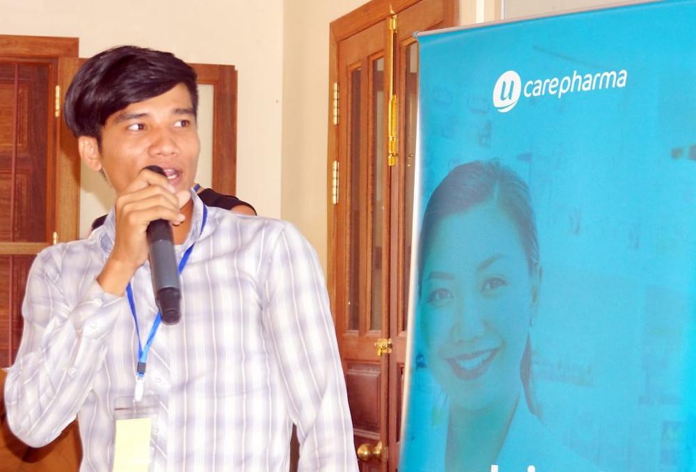 Pherom Haing, l'assistant marketing de l'entreprise et ancien de PSE,