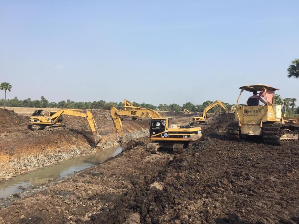 Un canal artificiel pour le réservoir Trapaing Thmar