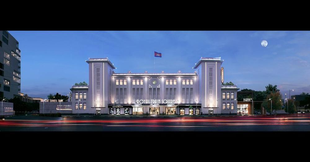 Projet Royal Train Square : Rénovation et centre commerciale pour la gare de Phnom Penh