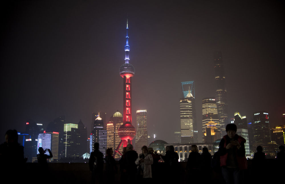 La tour Perle de l'Orient à Shanghai, Chine.