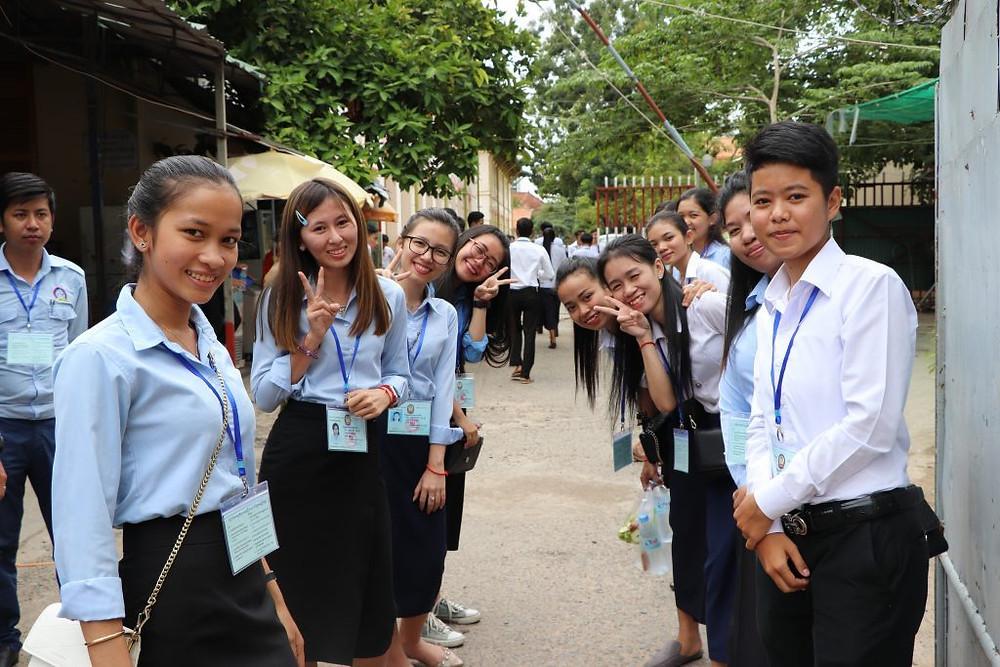 Examen de Fin Etudes Secondaires à Phnom Penh 2018