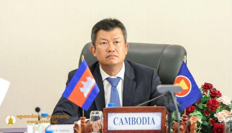 Meach Sophana, secrétaire d'Etat à l'Intérieur et président du Comité anti-contrefaçon du Cambodge