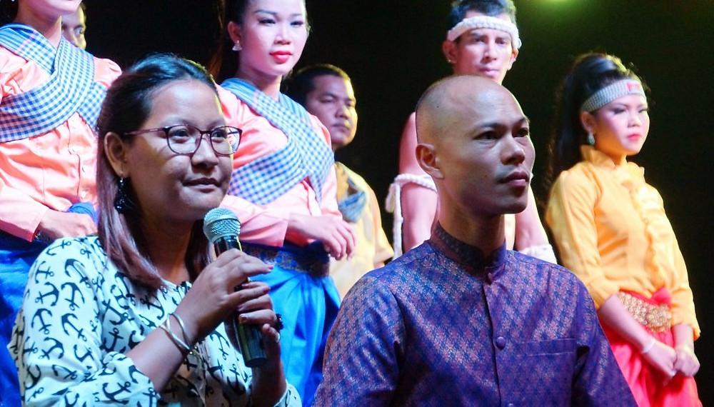 Jean-Baptiste Phou lors du dernier spectacle de Cambodia Living Arts