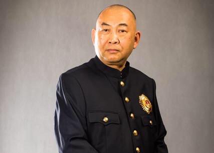 S.A.R. le Prince Norodom Sirivudh décoré du grand cordon de l'ordre du Soleil levant