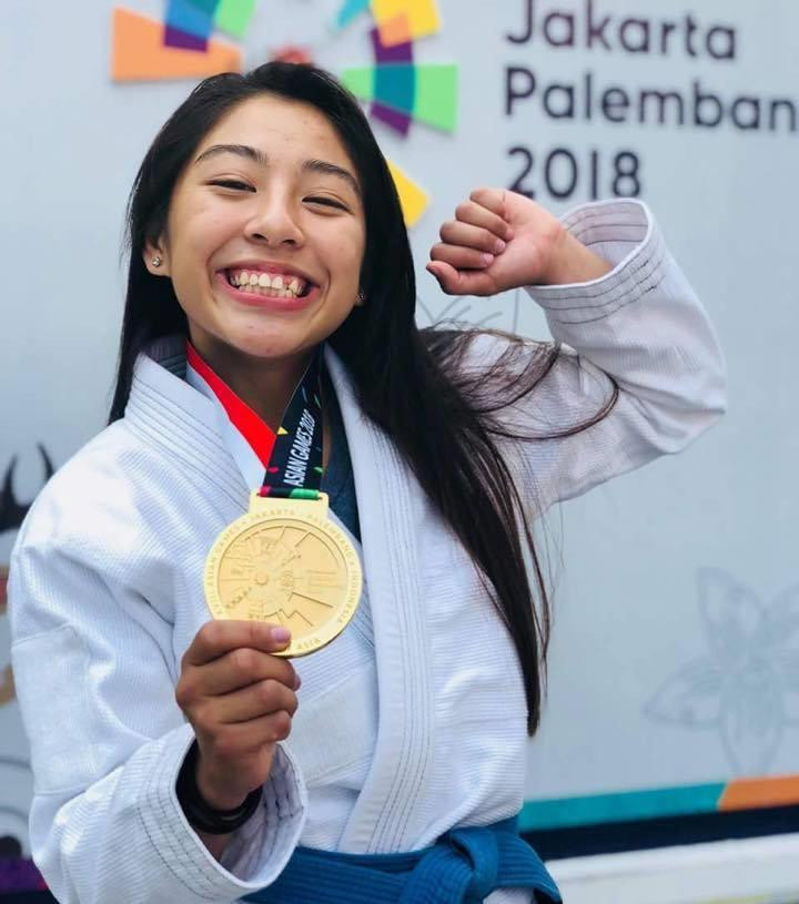 Khan Jessa, vainqueur dl'épreuve féminine de Jiu-Jitsu des 49 kg