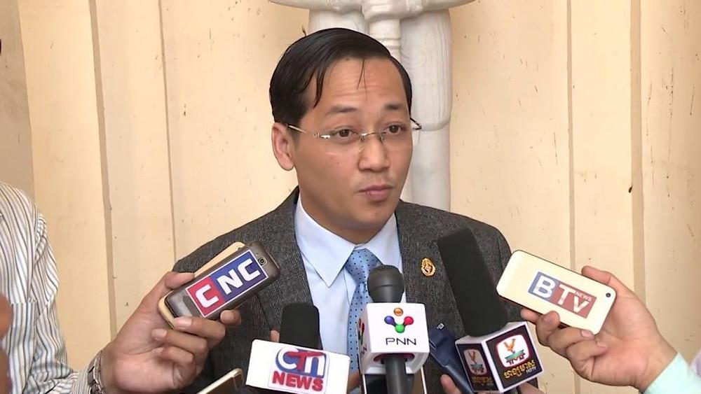 Le porte-parole du ministère de la Justice, Kim Santepheap