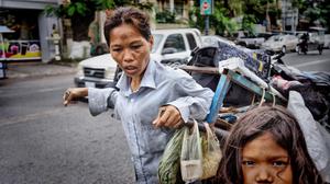 Srey Hon, chiffonnière à Phnom Penh
