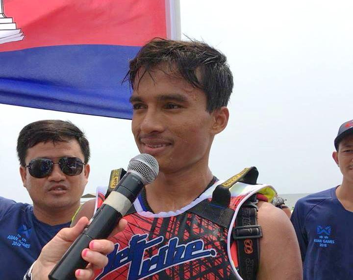 Le champion cambodgien de Jet Ski,M. Saly Ou Moeut